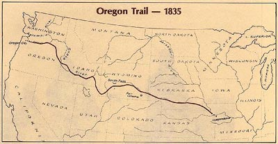 The Oregon Trail - 1835